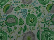 Sanderson Curtain Fabric 'Peas & Pods' Leaf Green/Ivory 2.8 METRES - Linen Blend