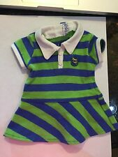 2010 American Girl Doll Lanie Meet Outfit Striped Rugby Dress ONLY Retired