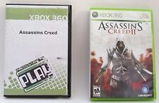 Assassins Creed 1 and 2 Xbox 360 Game Lot