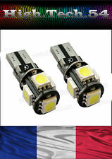 VEILLEUSE 5 LED SMD CANBUS T10 W5W ANTI ERREUR ODB à 5 LED  BLANC TRES PUISSANTE