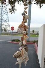 "ASSORT MIX SEA SHELL WIRED BEACH GARDEN WALL HANGER 26"" #7800"