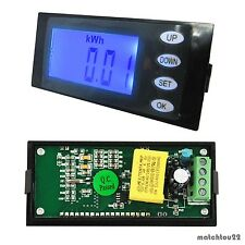 5 in 1 Digital Combo Panel Meter AC264V30A Volt Amp kWh Watt Working Time