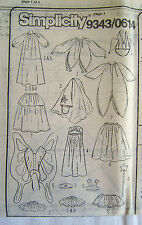 Simplicity 9343 - Fairy, Princess, Bride, Jester Sewing Pattern - Child S M L XL