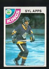 1977 - 1978 Topps Hockey Set SYL APPS Card