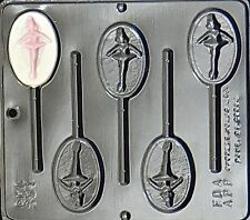 Ballerina Lollipop Chocolate Candy Mold 251 NEW