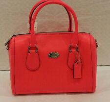 New with defects! Coach Neon Pink Crossgrain Leather Crossbody Bag F34697
