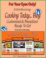 Cooking Blog - Self Updating Website - Clickbank Amazon Adsense Pages & More ***