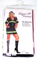 """Ms Blazin Hot"" Woman's Firefighter costume-Plus Size 1X-2X"