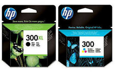 HP 300XL Black + HP 300 Colour Genuine Original Ink Cartridge Combo Multipack