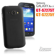 Black Matte Gel Case For Samsung Galaxy ACE 3 S7275 T 7275Y Jelly Soft Cover +SG