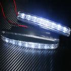 2pcs Car White Light 8LED Waterproof 12V Daytime Running Lights Driving Fog Lamp