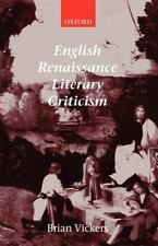 English Renaissance Literary Criticism, Vickers, Brian, Good Book