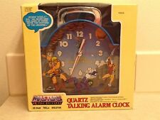 New 1983 Masters Of The Universe MOTU He-Man Skeletor Quartz Talking Alarm Clock