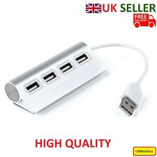 High Speed Aluminum USB 4 Port Splitter Hub Adapter with Cable for PC MAC - New