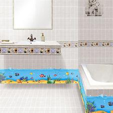 Beautiful Blue Ocean Life Sea Fish Border Wall Art Sticker for Bathroom Decal