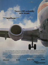 5-7/1991 PUB ALLIED SIGNAL AEROSPACE GARRETT BENDIX KING AIRESEARCH AIRLINER AD