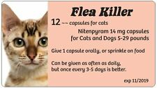 Flea Control for Cats ~ 5-29 lbs. 12 capsules ~~ 14 mg  Generic Capstar (Peach)