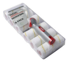 "ProDec Advance 6 Pack Of 4"" Inch Microfibre Mini Paint Rollers & Frame (ARRF003)"