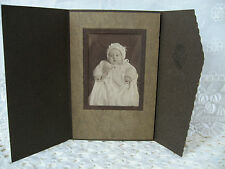 Antique Cabinet Card Baby Photograph in Folder