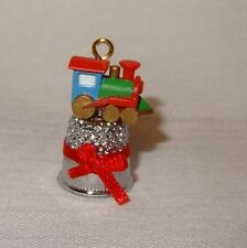 Christmas Train Tiny Toy Thimble Ornament 1986 Enesco 552682 Steam Engine