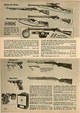 1957 PAPER AD Daisy Air Rifle Red Ryder Carbine Eagle Scout Sheridan Banjamin