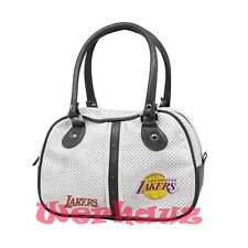 NBA Lakers Handbag Bowlers Black/White Purse Bag