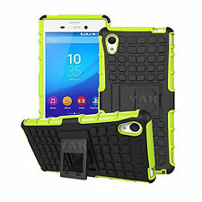 Heavy Duty Tough ShockProof Builder Hard Stand Case Cover for Sony Xperia Phones