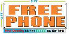 FREE PHONE orange Banner Sign NEW LARGER SIZE Best Quality for the $$ CELL