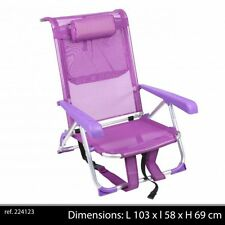 FAUTEUIL  A DOS ALU TRANSPORTABLE PORTABLE  PLAGE CHAISE LONGUE CAMPING NEUF 32
