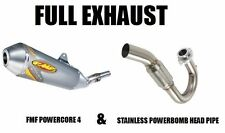 FMF FULL EXHAUST POWERBOMB HEADPIPE + POWERCORE 4 MUFFLER 96-04 XR400 XR400R