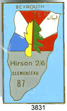 3831 - INSIGNE OPEX HIRSON 2/6 CLEMENCEAU 1987 BEYROUTH
