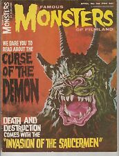 FAMOUS MONSTERS OF FILMLAND #38,CURSE OF THE DEMON,REAL NICE MID GRADE