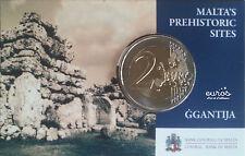 """Coincard 2 euros Malte 2016 """"Ggantija"""" comportant le poinçon Monnaie de Paris"""