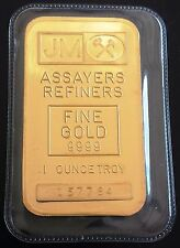 *SEALED* JM ASSAYERS REFINERS 1 OUNCE GOLD BAR SERIAL 157784 - FREE COMBINED S/H