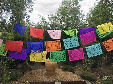 Mexican Papel Picado Banner- MEDIUM Paper Multicolor, All Ocassion, Fiesta decor