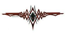 RARE TRIBAL BLACK WIDOW SPIDER HOTROD BIKE VINYL STICKER/ DECAL by NENE THOMAS