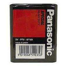 Panasonic Heavy Duty Battery PP9 9V Square Block Radio Stud Terminals Zinc New