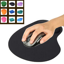 NEW Black Comfort Wrist Support Mat Mouse Mice Pad Computer PC Laptop Soft Rest