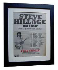 STEVE HILLAGE+Motivation+TOUR+POSTER+AD+FRAMED ORIGINAL 1977+EXPRESS GLOBAL SHIP