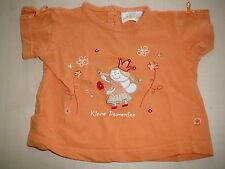 Authentic Baby süßes T-Shirt Gr. 62 orange mit Blumenfee Applikation !!