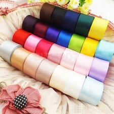 24pcs 40mm 1Yard Satin Ribbon Craft Hair Bow DIY Wedding Supply Mixed Color