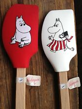 Moomin baking spatula, super adorable from Finland, silicone and wood, WHITE