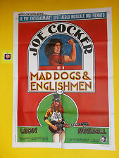 M123 JOE COCKER MAD DOGS & ENGLISHMEN  - MANIFESTO 2F 1° EDIZ. 1971