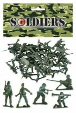 BAG OF 50 GREEN PLASTIC TOY SOLDIERS ARMY PARTY LOOT BAG FILLER,NEW
