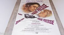 alain delon  L' HOMME PRESSE  !  molinaro  affiche cinema 1977