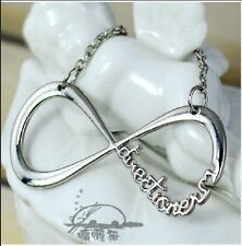 Silver 1D One Direction Infinity 8 Symbol Forever Lover Pendant Chain Necklace