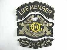 patch HARLEY DAVIDSON 3 pieces small OWNERS GROUP eagle HOG embroidery back