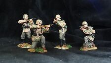 CONTE WW2 WAFFEN SS firing set WW2035  4 figures GERMAN ARMY RARE PAINTED PEWTER