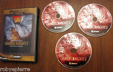 Videogioco vintage blood of the sacred GABRIEL KNIGHT 3 damned SIERRA 2004 vendo