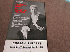 Deborah KERR in the DAY After the FAIR Curran Theatre San FRANCISCO US Poster
